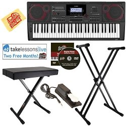 Casio CT-X5000 Keyboard Bundle with Adjustable Stand, Bench, Sustain Pedal, Online Lessons, Aust ...