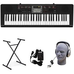 Casio CTK-2090 PPK Premium Keyboard Pack with Power Supply, Stand, and Headphones