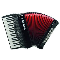 Hohner Bravo Piano Accordion, 96 Bass, Black