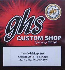 GHS Custom A6th- 6 Lap Steel Guitar Strings Gauges 15-36W – 2 Sets