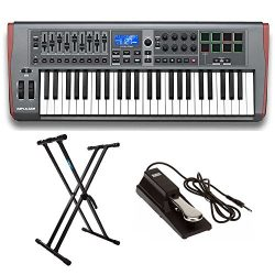 Novation AMS-IMPULSE-49 Impulse 49 with On Stage Sustain Pedal and Knox Adjustable Keyboard Stand