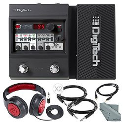 DigiTech Element XP Guitar Multi Effects Pedal + Deluxe Bundle with Closed-Back Headphones, Cabl ...