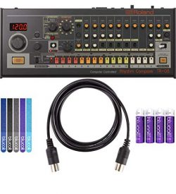 Roland TR-08 Rhythm Composer Sound Module Bundle with Blucoil 5-Ft MIDI Cable, 5-Pack of Reusabl ...