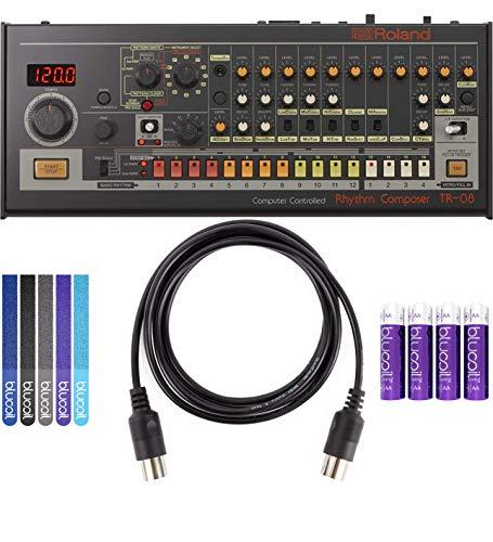 Roland TR-08 Rhythm Composer Sound Module Bundle with Blucoil 5-Ft MIDI Cable, 5-Pack of Reusabl ...