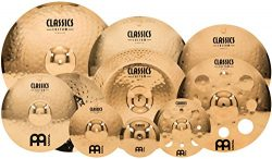 Meinl Cymbals CC4680-TRB Classics Custom Pack Triple Bonus Cymbal Box Set with FREE 8″ Bel ...