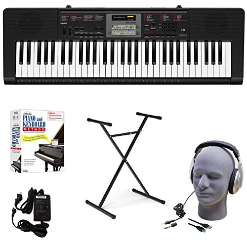 Casio CTK-2090 EDP Educational Keyboard Pack with Power Supply, Stand, Headphones, USB Cable, an ...