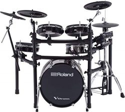 Roland High-performance, Mid-level Electronic V-Drum Set (TD-25KVX) with 12″ snare pad, 10 ...