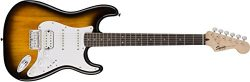 Squier by Fender Bullet Stratocaster Beginner Hard Tail Electric Guitar – HSS – Brow ...