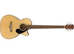 Fender CB-60SCE Beginner Acoustic-Electric Beginner Bass Guitar – Natural