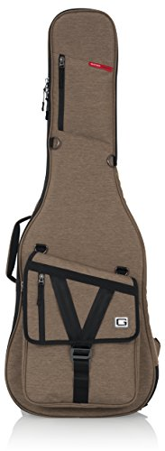 Gator Cases Transit Series Electric Guitar Gig Bag; Tan Exterior (GT-ELECTRIC-TAN)