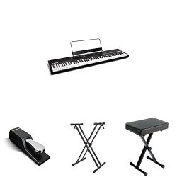Alesis Recital 88-Key Beginner Digital Piano with Full-Size Semi-Weighted Keys and Power Supply, ...