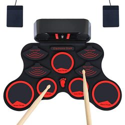 Electronic Drum Set,JEVDES Portable Electronic Drum Set Kit designed for children,beginners,adul ...