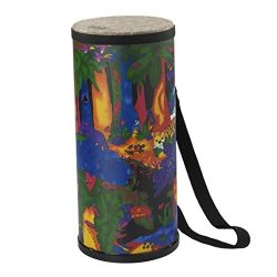 Remo KD-1506-01 Kids Percussion Konga Drum – Fabric Rain Forest, 6″