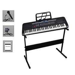 iMeshbean 61 Key Music Electronic Keyboard Electric Digital Piano Organ w/Stand Optional (Black  ...
