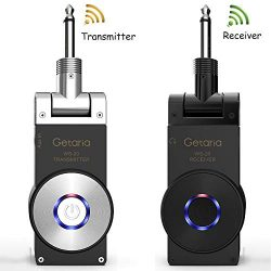 Getaria Wireless Guitar System Rechargeable Digital Transmitter Receiver for Electric Guitar Bass