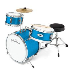 Ashthorpe 3-Piece Complete Kid's Junior Drum Set – Children's Beginner Kit wit ...