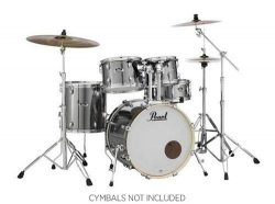Pearl Export 5-pc. Drum Set w/830-Series Hardware Pack, Smokey Chrome, inch (EXX705N/C21)