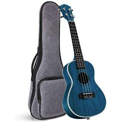 Concert Ukulele Ranch 23 inch Professional Wooden ukelele Instrument with Free Online 12 Lessons ...
