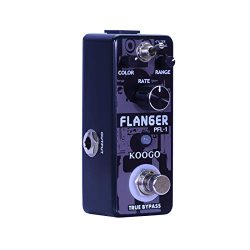 Koogo Vintage Analog Flanger Guitar Effect Pedal 2 Modes with Picks and Polishing Cloth