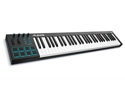 Alesis V61 | 61-Key USB MIDI Keyboard & Drum Pad Controller (8 Pads / 4 Knobs / 4 Buttons)