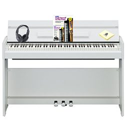 Yamaha Arius YDPS52WH 88 Key Weighted Graded Hammer Keyboard Digital Piano with Touch Sensitivit ...