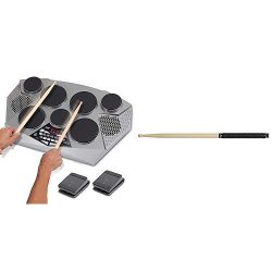 Pyle Pro Electronic Drum kit – Portable Electric Tabletop, 7 Drum Pad, Hi-Hat / Kick Bass  ...