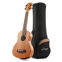 Donner DUB-1 30 inch Electric Bass Ukulele Mahogany Body with Case