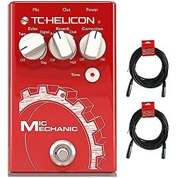 TC Helicon Mic Mechanic 2 Vocal Effects Pedal with (2) 20′ XLR Cables