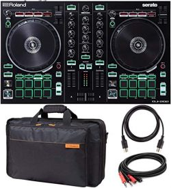 Roland DJ-202 DJ Controller with Built-In TR Drum Machine Bundled with Roland CB-BDJ202 Carrying ...