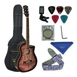 Bailando 38 Inch Acoustic Guitar, 6 Steel Strings, Cutaway Mahogany, Brownburst