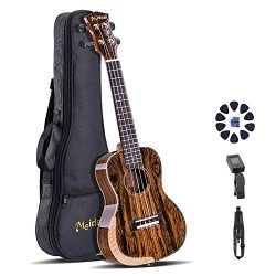 Meideal 24 inch Concert Ukulele Set 24in Premium Butterfly Wood Ukulele Aquila Strings Perfect P ...