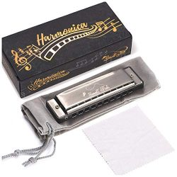 Harmonica for Toddlers, Kids, and Adults, Musical Instrument for Beginners with 10 Holes and 20  ...