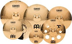 "Meinl Cymbals Cymbal Set Box Pack with 14"" Hihats, 20"" Ride, 18, Plus a Free 16"" Trash Crash and ..."
