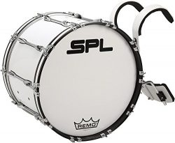 Sound Percussion Labs Birch Marching Bass Drum with Carrier 22 x 14 in. White