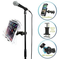 AccessoryBasics EasyAdjust cymbal Microphone Mic Stand Tablet Mount for Apple iPad PRO Air Mini  ...
