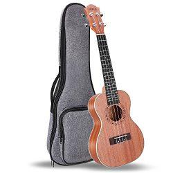 UKELE Concert Ukulele 23 Inch Ukelele Professional Wooden Beginner Instrument Small Hawaiian Gui ...