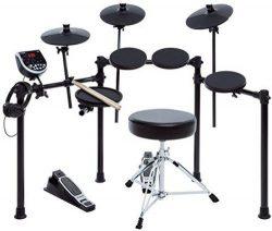 Alesis Seven-Piece Electronic Drum Burst Kit with DM6 Drum Module Includes Drum Throne, Drum Sti ...