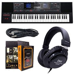 Roland PK E-A7 61 Key Expandable Arranger Keyboard + ISK HP2000 Headphone w/Free 3.5mm AUX Cable ...