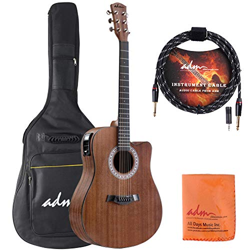 adm full size acoustic electric cutaway dreadnought guitar 41 inch handmade solid wood guitar. Black Bedroom Furniture Sets. Home Design Ideas