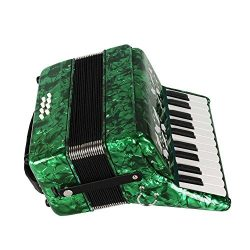 Dilwe Piano Accordion, Maple Wood 22 Key 8 Bass Keyboard Accordion Musical Instrument Toy with S ...