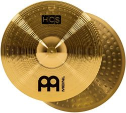 "Meinl 14"" Hihat (Hi Hat) Cymbal Pair – HCS Traditional Finish Brass for Drum Set, Made In German ..."