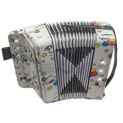 SKY Accordion Kitty Pattern 7 Button 2 Bass Kid Music Instrument High Quality Easy to Play *GREA ...