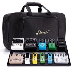 "Donner Guitar Pedal Board Case DB-3 Aluminium Pedalboard 20"" x 11.4"" x 4'' wit ..."