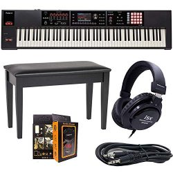 Roland PK 88-key Weighted-action Music Workstation FA-08 + ISK HP2000 Headphone + DPB-500CBD Due ...
