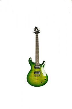 ivy IP-350 TGR PRS Solid-Body Electric Guitar, Trans Green