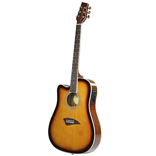 kona k2ltsb left handed acoustic electric dreadnought cutaway guitar in tobacco sunburst finish. Black Bedroom Furniture Sets. Home Design Ideas