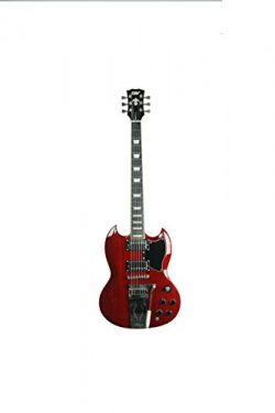 ivy ISGV-200 Vibrato SG Solid-Body Electric Guitar, Cherry Red