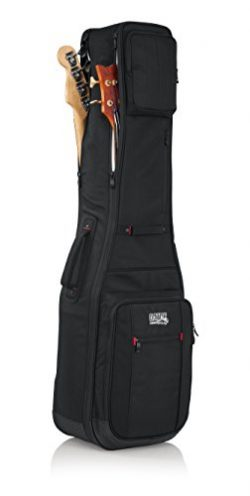 Gator Cases Pro-Go Ultimate Double Guitar Gig Bag; Holds (2) Bass Guitars (G-PG BASS 2X)