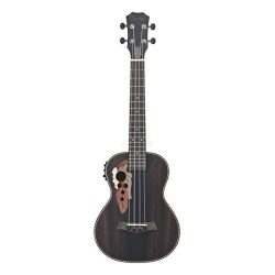 Caramel CB904 Ebony Baritone Acoustic and Electric Ukulele with Truss Rod