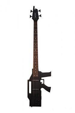 Directly Cheap 4 String Bass Guitar Black (GB47-BK+Lessons
